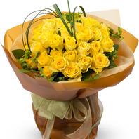 노랑장미꽃다발2
